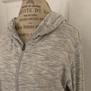 Columbia brand women's gray/white full zip jacket
